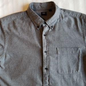 Uniqlo grey flannel shirt